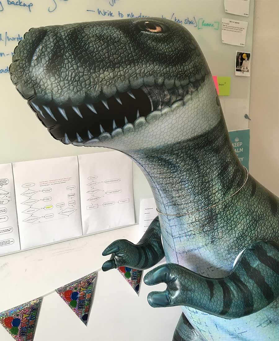 Roxy the dinosaur