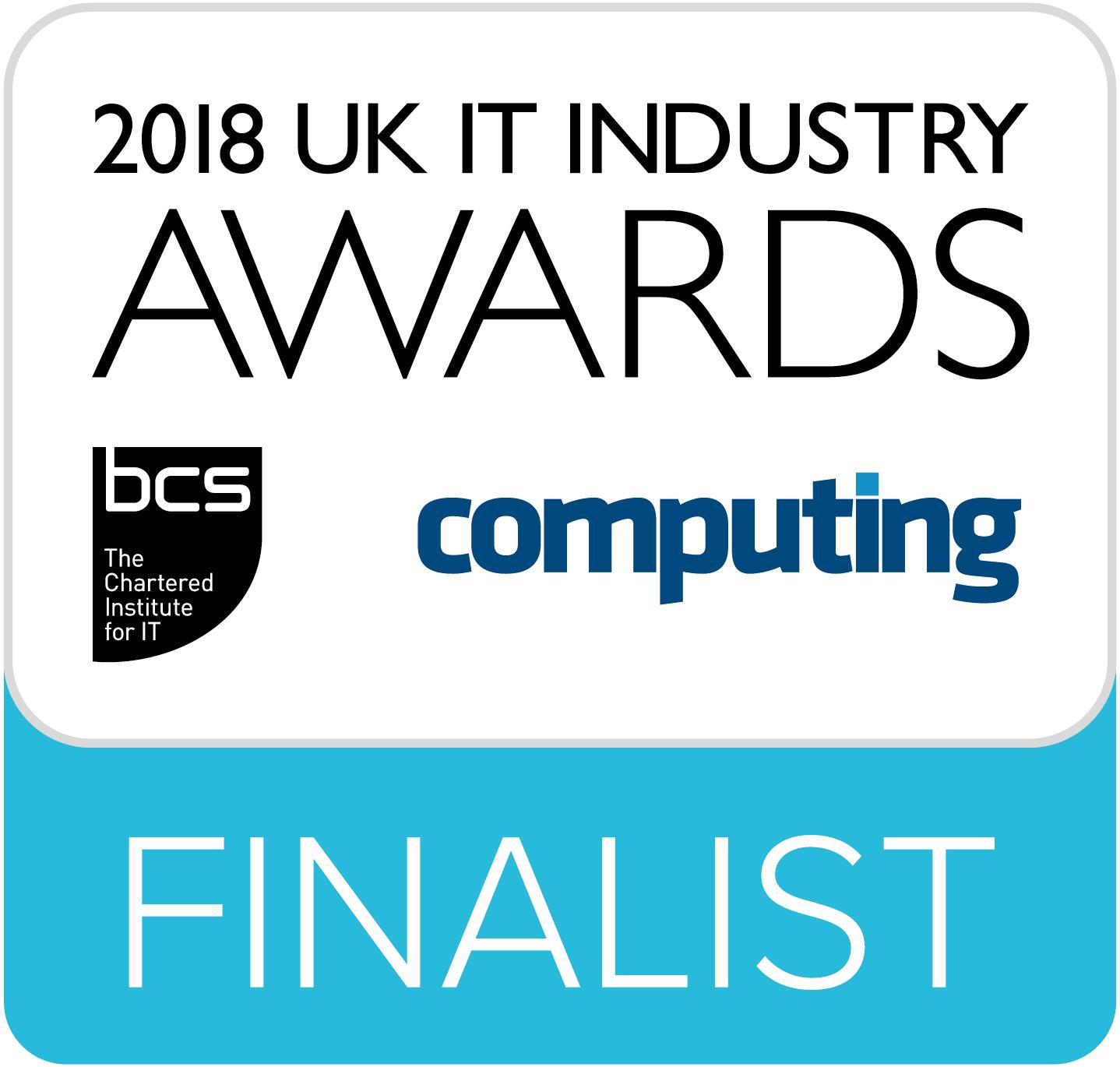 2018 UK IT Industry awards finalist logo