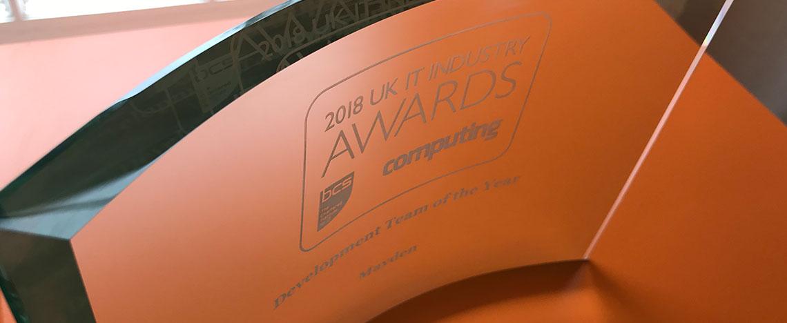 Mayden wins UK IT award post image